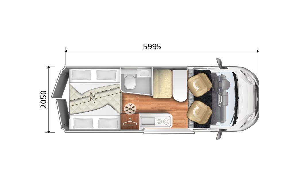 Autocaravana Kyros 5 Experience plano