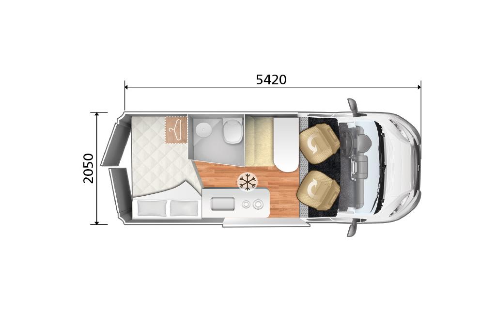 Autocaravana Kyros 2 Experience plano