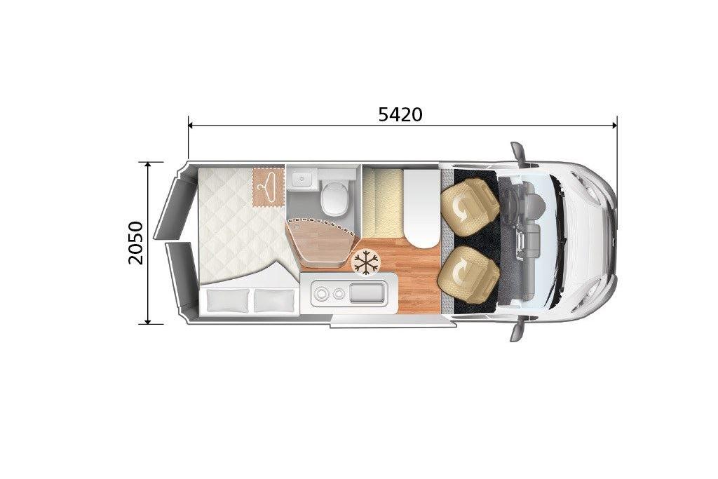 Autocaravana Kyros K3 Experience plano